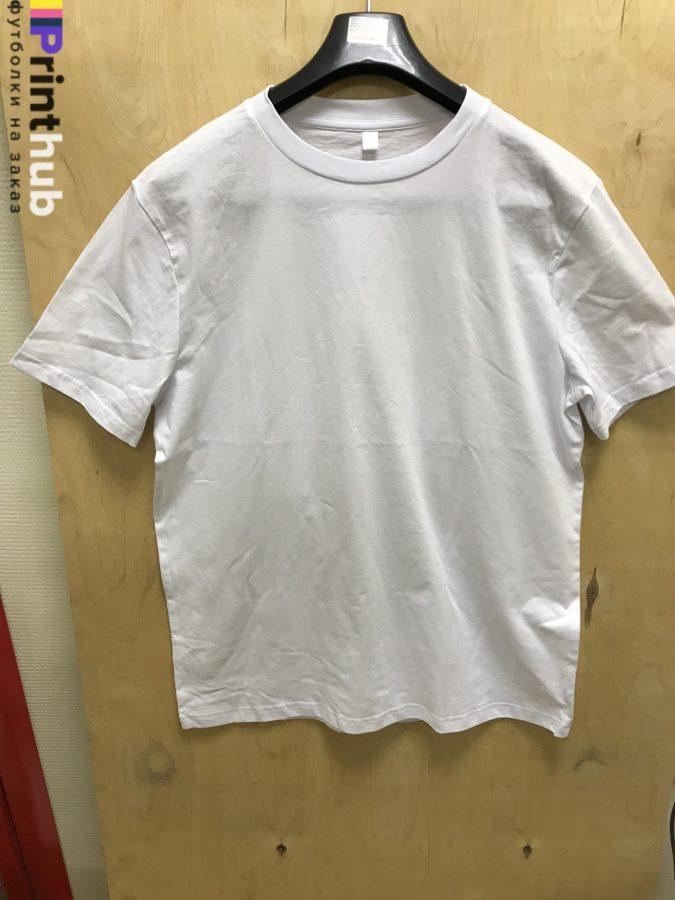 Белая футболка хлопок