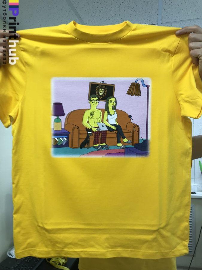 Печать рисунка на футболке