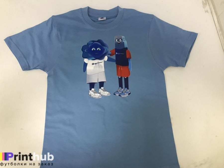 Печать рисунка на детской футболке