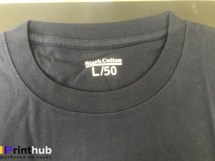 Черная футболка хлопок ворот