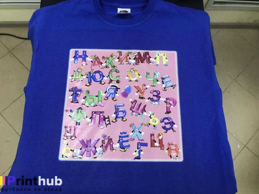 Цифровая печать на футболке