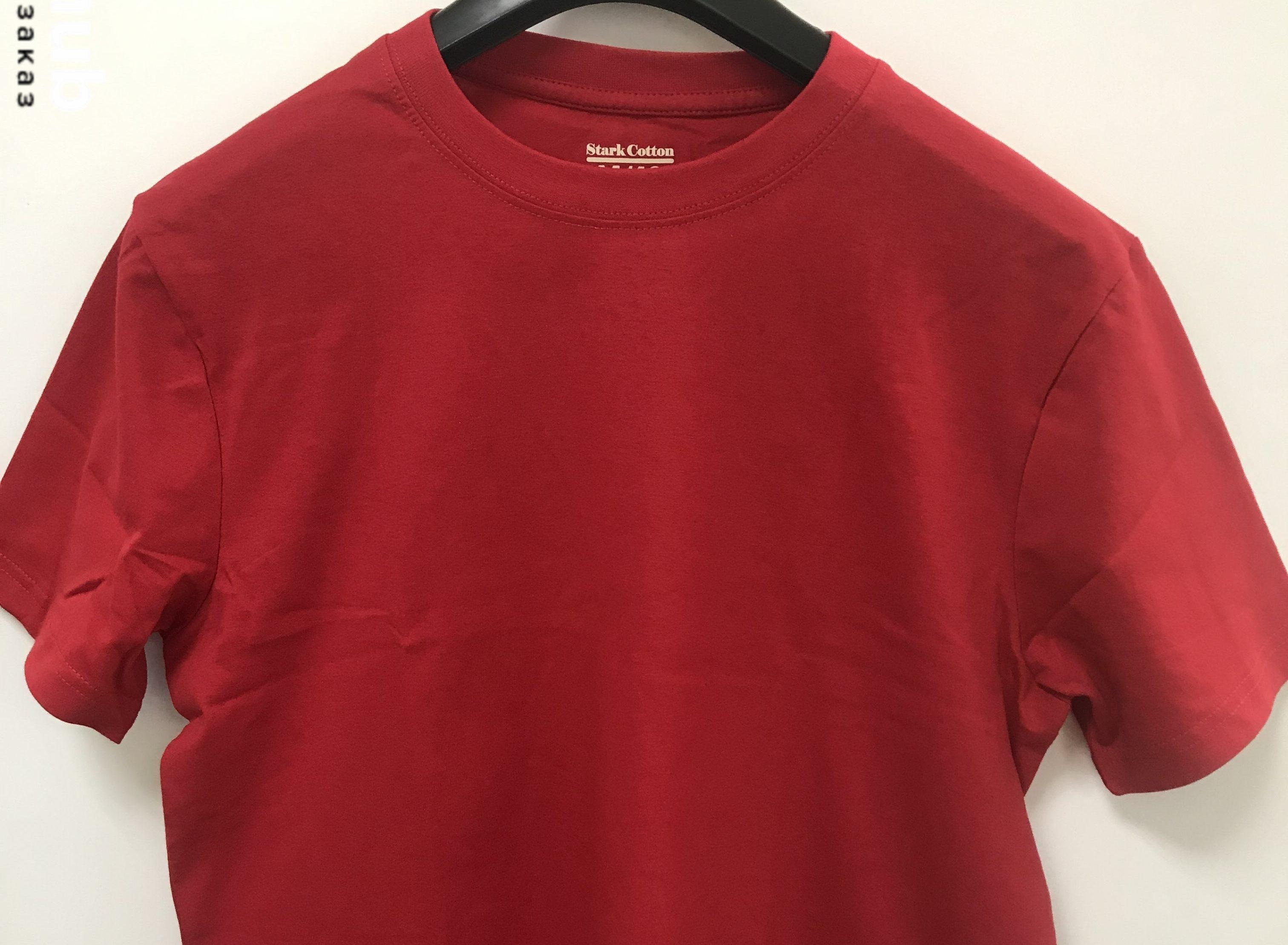 Красная футболка хлопок
