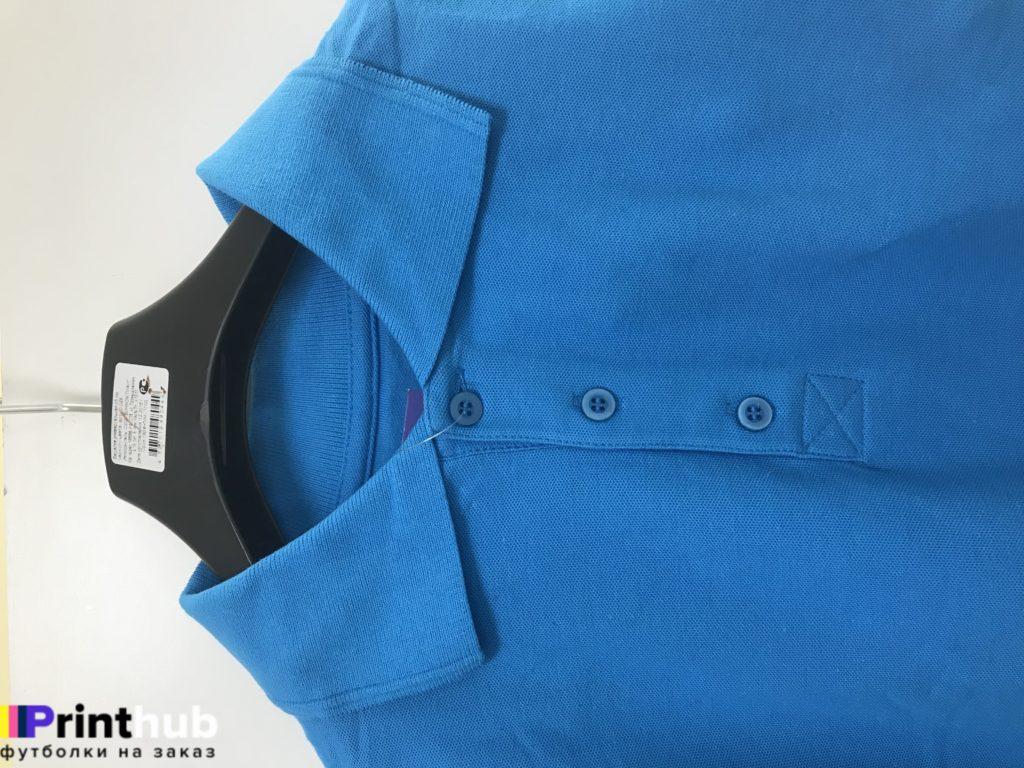 голубое мужское поло воротник