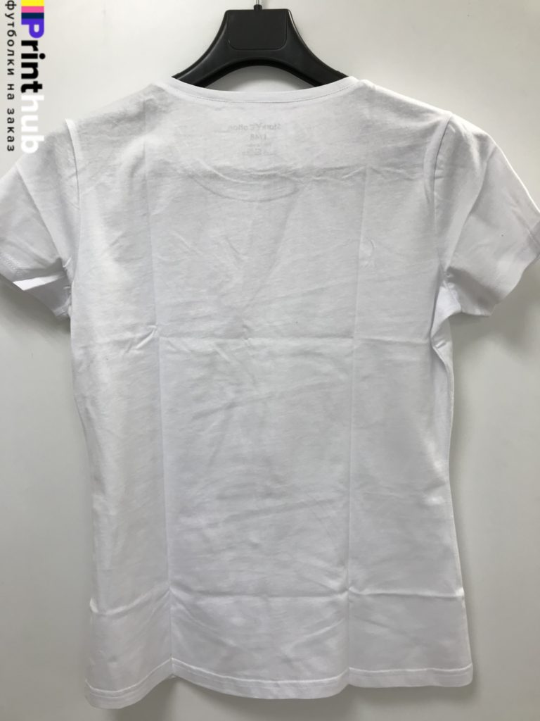 Женская белая футболка хлопок
