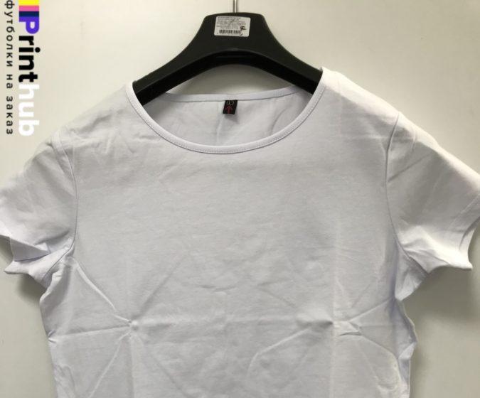 Женскаф футболка стрейч ворот