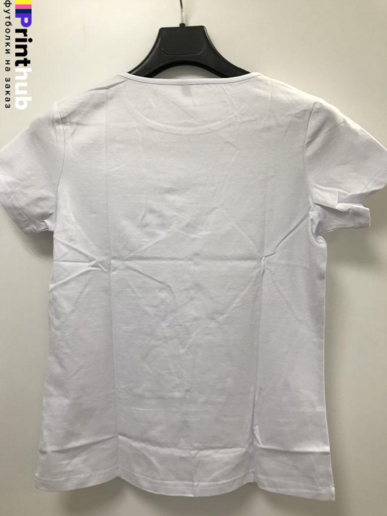 Женскаф футболка стрейч сзади